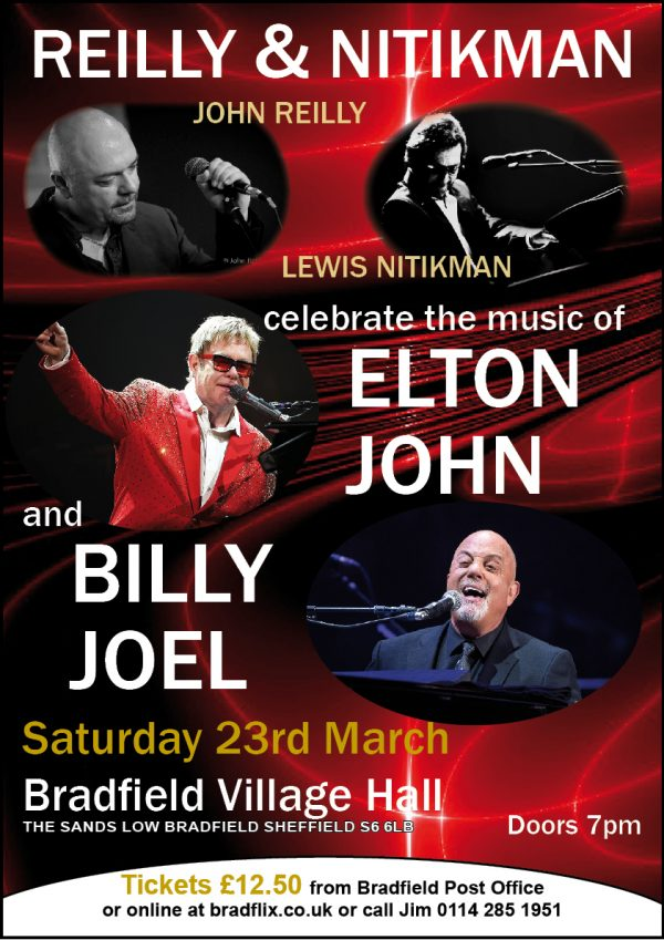 Reilly/Nitikman play Elton John & Billy Joel at the hall.