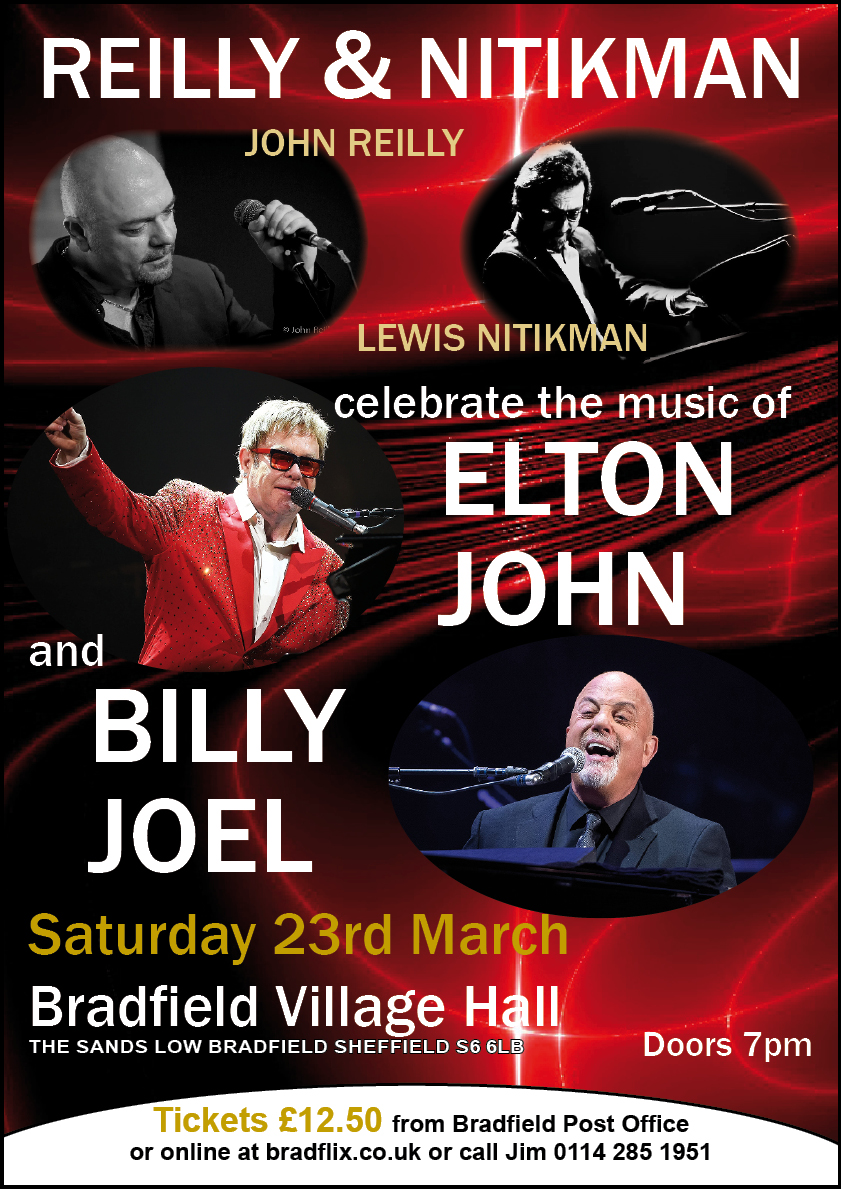 Reilly/Nitikman play Elton John & Billy Joel at the hall.